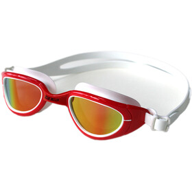 Zone3 Attack Goggles, polarized lens-red/white